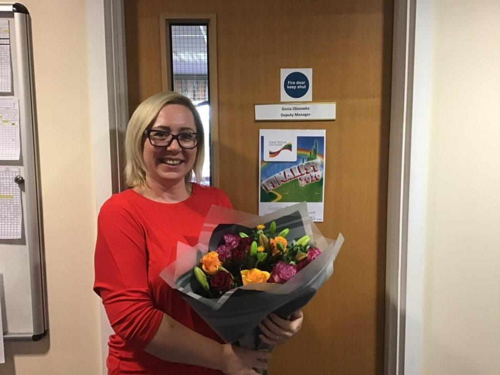 Gosia Olszowka, finalist in the Frontline Leaders Award at the Great British Care Awards 2020