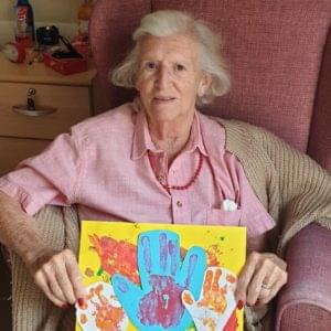 Painting care home activities at Brendoncare Knightwood