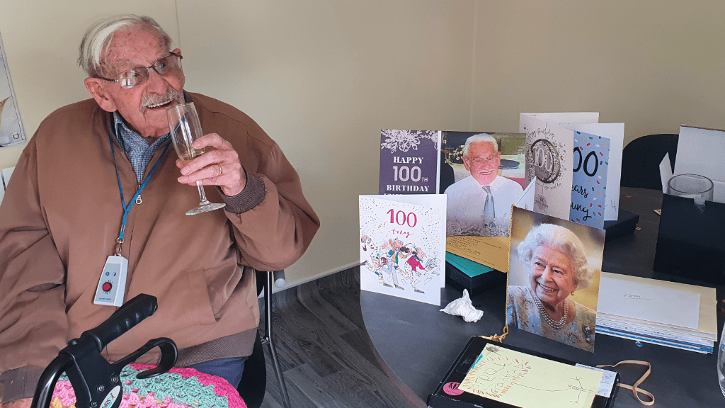 birthday celebrations at Brendoncare for Tom Cole