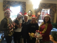 Volunteers from Zurich and Coffin Mew help to put up all of the Christmas Decorations at Brendoncare Knightwood and Park Road